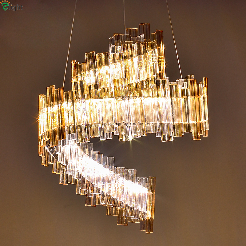 Modern Lustre Crystal Led Pendant Lights Chrome Metal Dining Room Led Pendant Light Foyer Pendant Lamp Hanging Light Fixtures luxury pendant light fixtures designer light fixtures modern creative crystal pendant light lustres para quarto lustre pendente