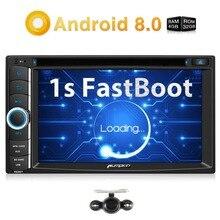 Тыквы Qcta-Core Android 8,0 автомагнитолы 2 Din 6,2 »стерео dvd-плеер gps навигации 4 ГБ Оперативная память wi-Fi 4 г DAB + FM Rds радио