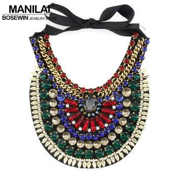 7 Colors Latest Luxury Handmade Crystal Necklace Jewelry