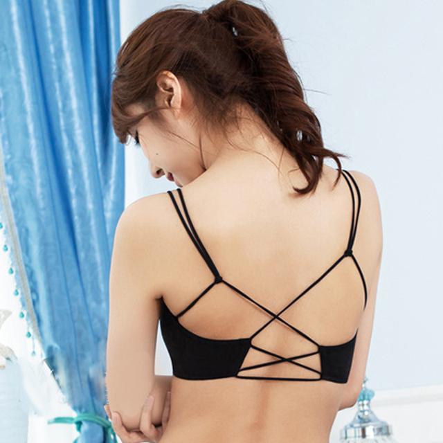 200PCS/LOT  New Design Women bandage Underwear  Sleeveless Short Modal Tank Top Crop Back Cross Vest Summer Sexy Top