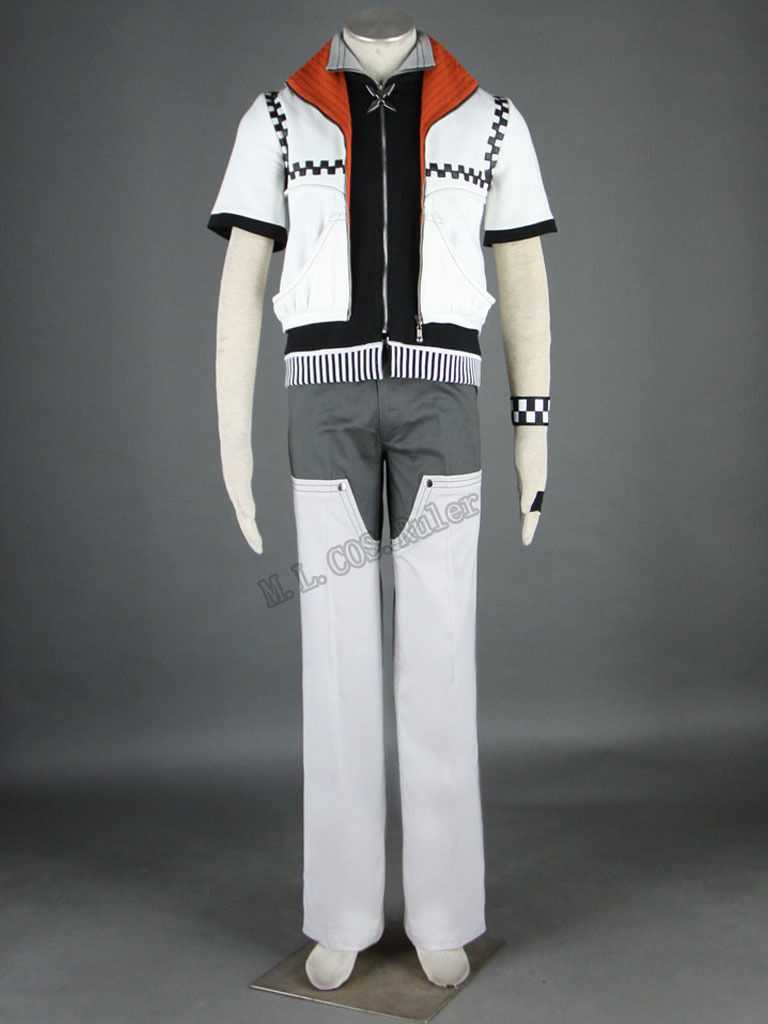 Kingdom Hearts Roxas Cosplay Costume Women Men Custom Made Full Set Include the Accessoriess