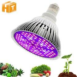 Diodo emissor de luz cresce o espectro completo 6 w 10 w 30 w 50 w 80 w vermelho azul uv ir conduziu a lâmpada crescente para hidroponia flores plantas vegetais.