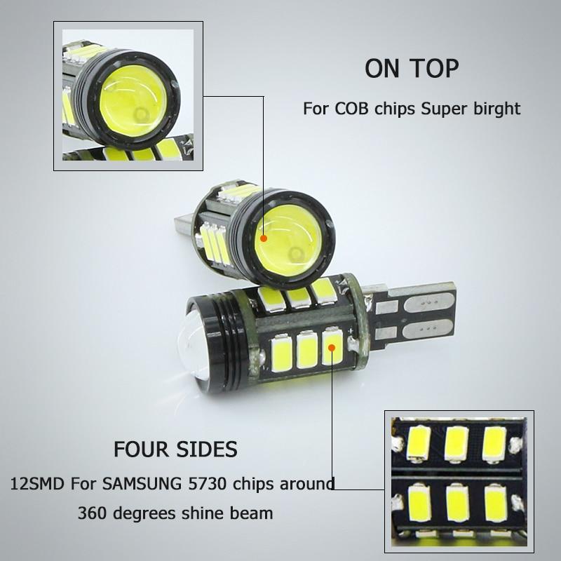 1x T15 W16W Untuk CREE Chip + SAMSUNG chip LED Reverse Backup Light - Lampu mobil - Foto 2
