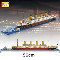 Loz Mini Diamond Building Block Creator 56cm The Titanic Cruise Ship Nanoblock Model Bricks Educational Toys