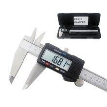 Электронный цифровой штангенциркуль с нониусом из нержавеющей 150/200/300 мм Нержавеющая сталь суппорт раздвигающийся измерительный датчик диагностический инструмент 0,01 мм Микрометр