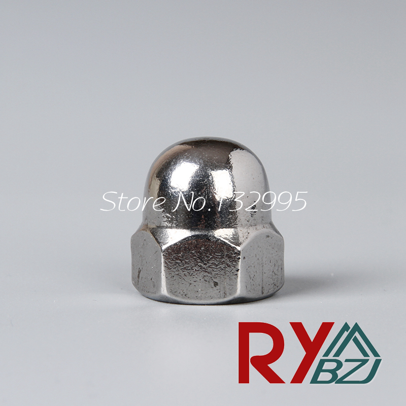 M3 M4 M5 M6 M8 M10 M12 M16 Dome Nuts Metric A2 Stainless Steel Domed DIN1587