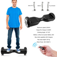 6 5 Inch Bluetooth Hoverboard Two Wheels Self Balance Electric Scooter Skateboard Hover Board Gyroscope With