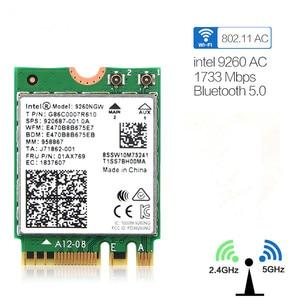 Image 1 - Dual Band Wifi 1.73Gbps Draadloze Kaart Voor Intel 9260 9260NGW 2.4G/5Ghz 802.11ac Wifi Bluetooth 5.0 gigabit M.2 NGFF Wlan kaart