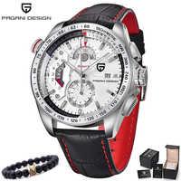 Relogio Masculino 2018 PAGANI Chronograph Herren Uhren Marke Luxury Business Military Sport Leder Wasserdichte Quarzuhr Männer