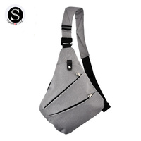 Men Sling Chest Bag Single Shoulder Crossbody Bags Male Messenger Bag Oxford Chest Pack Oblique Cross