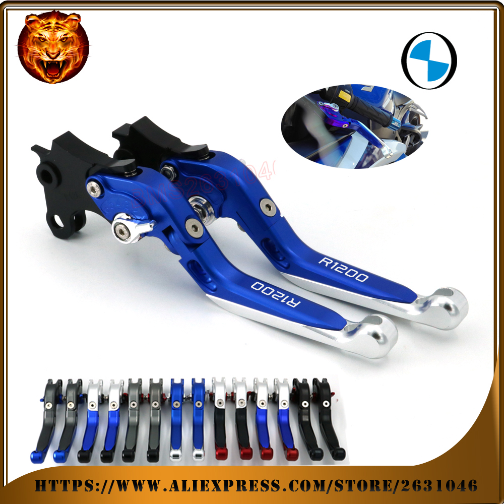 For BMW R1200 GS R1200GS ADVENTURE LOGO 2014-2016 MOTOBIKE BLUE Motorcycle Adjustable Folding Extendable Brake Clutch Lever adjustable folding extendable brake clutch levers for bmw k1300 s r gt k1600 gt gtl k1200r sport r1200gs adventure 8 colors