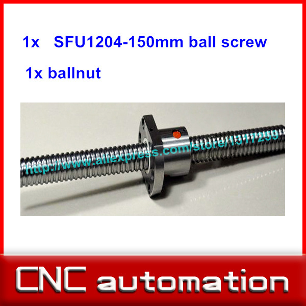 1204 Ball Screw SFU1204 L= 150mm Rolled Ballscrew rail with single Ballnut for CNC parts RM1204 without end machine
