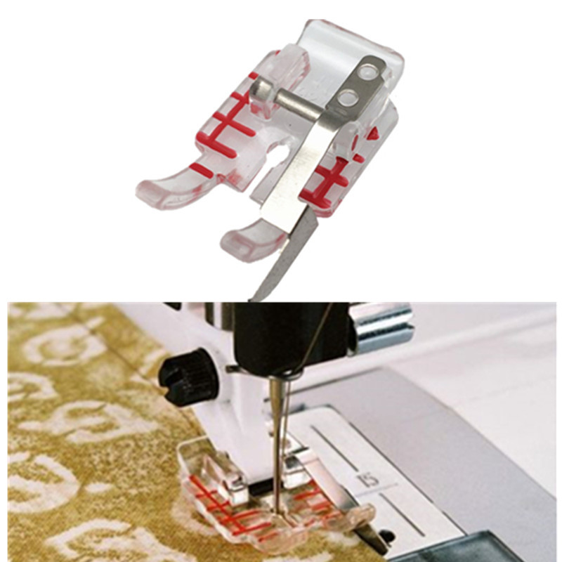 """Sewing Accessories Clear 1/4"""" Piecing Guide foot for Husqvarna Viking Emerald 116,118,122 # 4129274-45 412927445 5BB5557"""