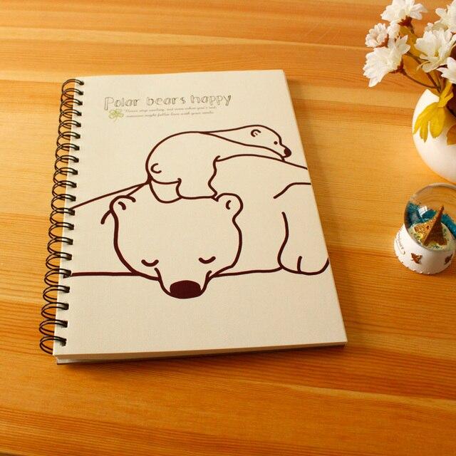 Ymlp Lucu Kartun Beruang Kutub 16 K Kosong Sketchbook Doodle Buku
