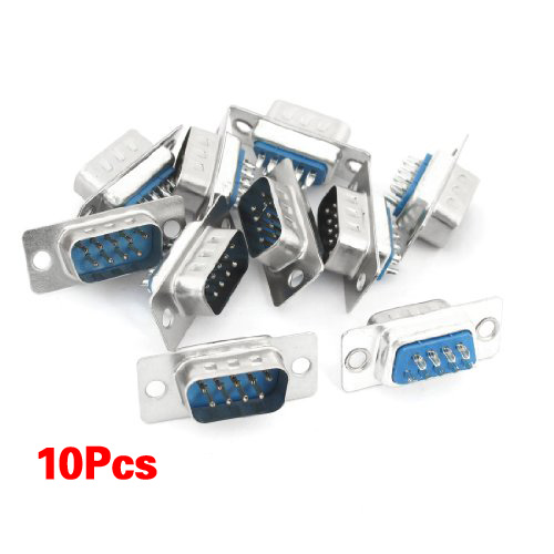 IMC Hot 10 pcs Computer DB9 Male to Solder Type Female Adapter Connectors