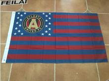 3x5ft American Striped Atlanta United flag MLS banner   free shipping