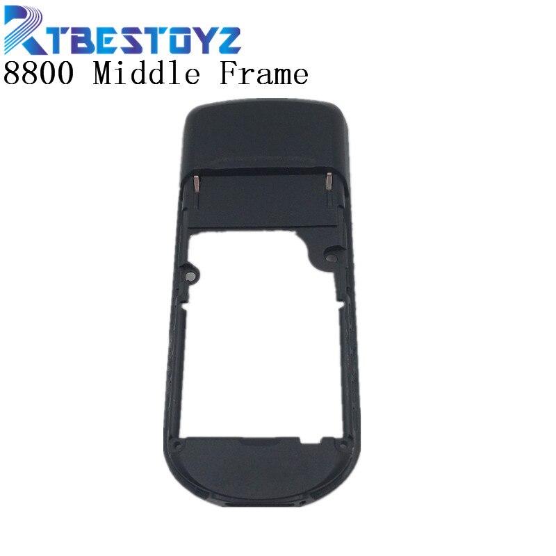 RTBESTOYZ For Nokia 8800 Black Housing Black Middle Frame Replacement Black Middle Frame For Nokia 8800
