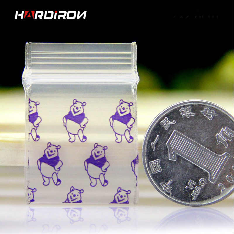 HARDIRON 500PCS Mini PE Zip Lock Bags Small Items Storage Bag Plastic Packaging Pouch Earring Ring Pendant Packaging Bags