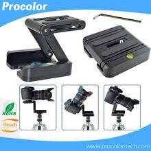Z folding desktop tripod head slide camera pack-shot rack portable light camera support tripod quick release plate 1/4 screw