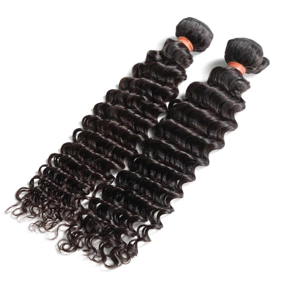 Wigirl derin dalga 8-28 30 32 34 40 inç 1 3 4 demetleri brezilyalı saç örgü 100% insan saç demetleri uzun kıvırcık saç uzantıları