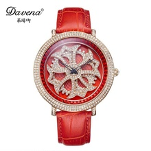 Scorching ladies's luxurious bling good high quality crystal wristwatch ladies gown rhinestone watches style informal quartz watch Davena 30330