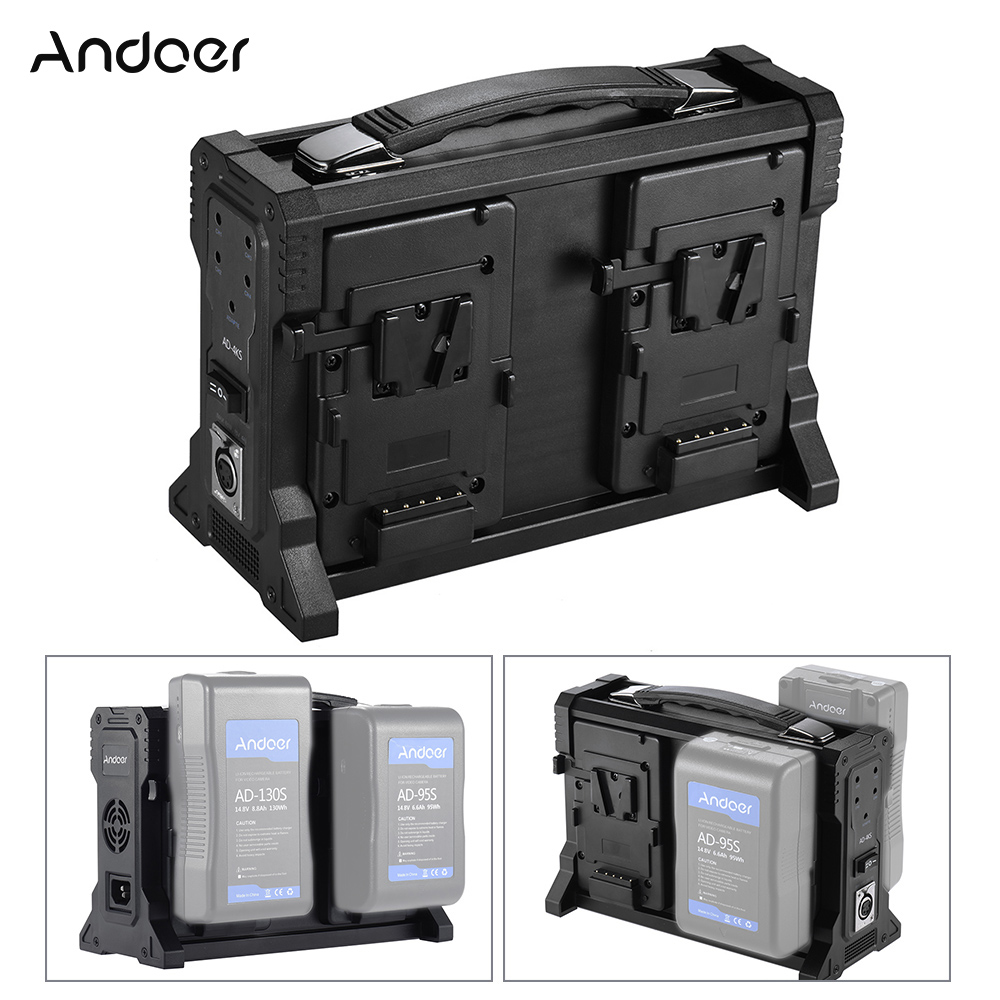 Andoer AD 4KS 4 Channel Camcorder Battery Charger for V Mount Battery for DSLR Video Cameras
