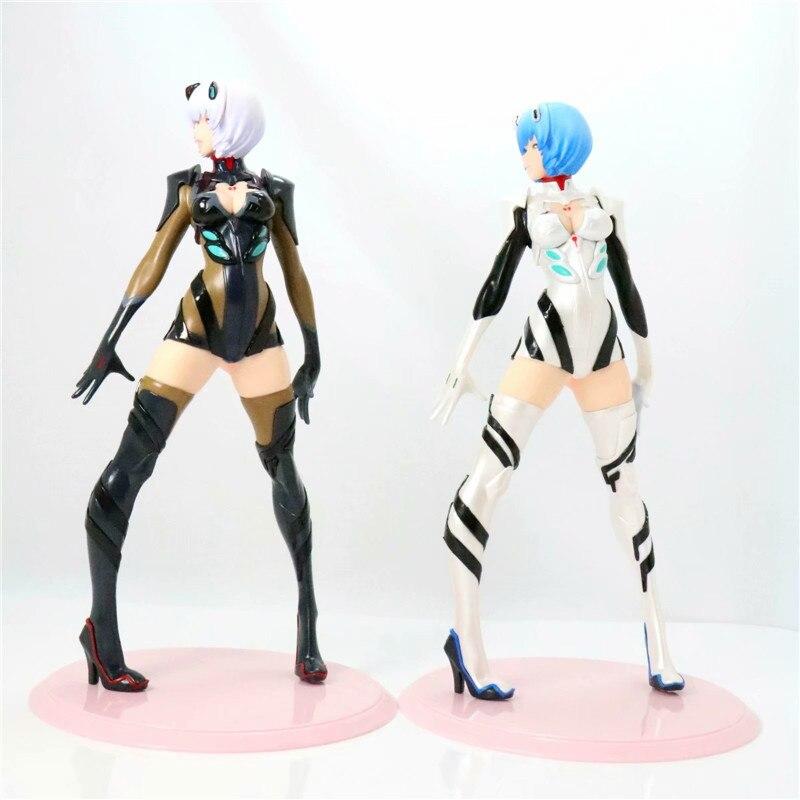 Аниме Евангелион рисунок Ayanami Rei черный и белый ver. ПВХ фигурку Коллекционная модель игрушки для подарков ...