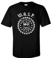 Thiết kế Áo Sơ Mi Men 'S Short Crew Neck Cơ Bản Cổ Điển W.A.S.P. 33 Năm Nặng Xoắn Chị Ngắn Tay Áo T Shirts
