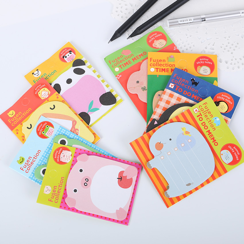 1PC Creative Stationery Forest Animal Series Cute Paper Memo Pad Sticker Post Sticky Notes Notepad School Office Supplies