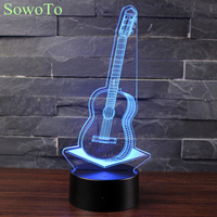 3D LED Visual Colorfuls 5V USB Remotely Table Lamp Baby Sleeping Night Light Creative Fashion Music