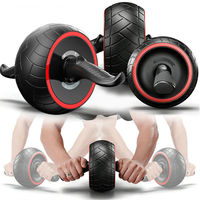 Men Body Building Gym Exercises Tainer Abdominal Crossfit ABS Simulator Muscle Fitness AB Roller Wheel for Fitness Equipment