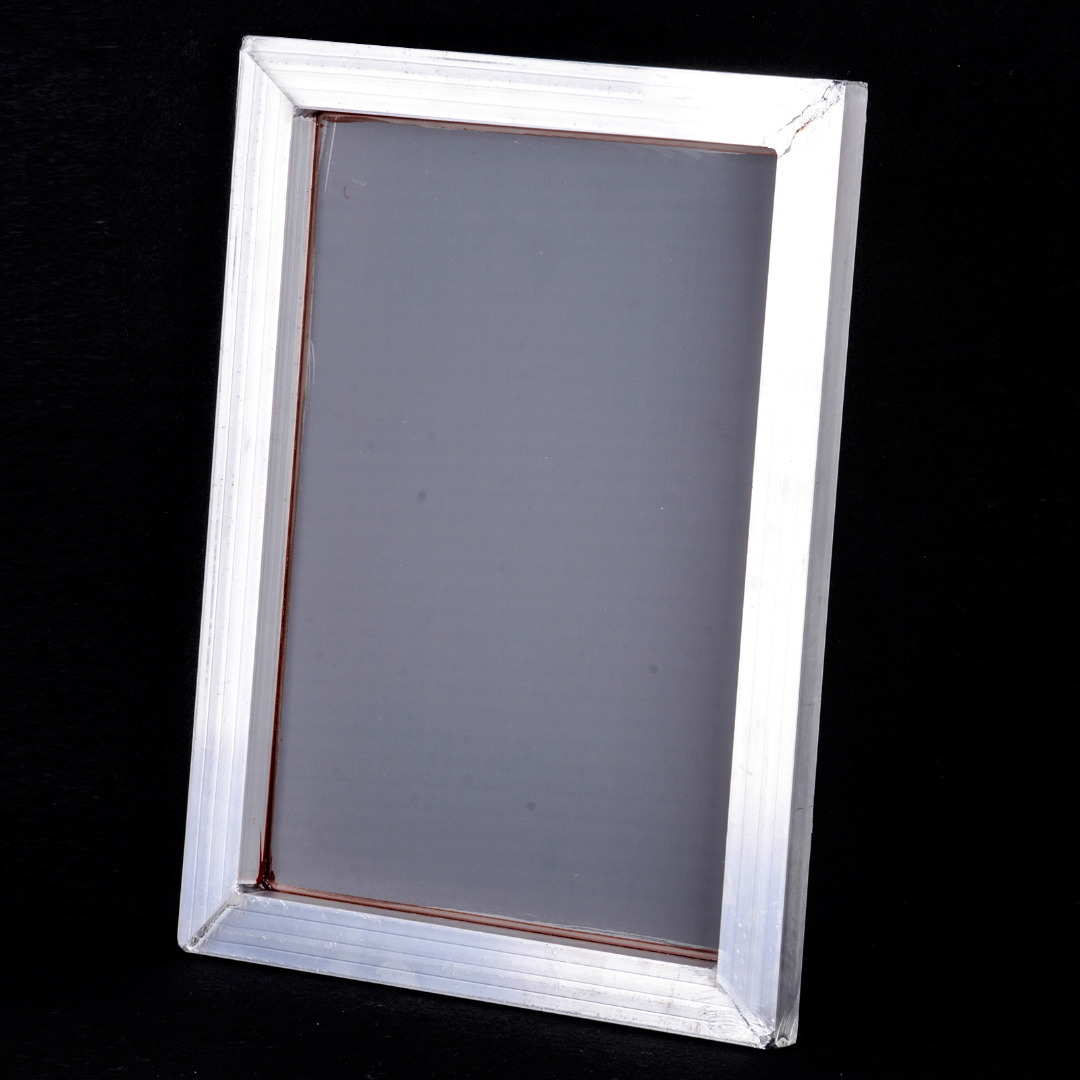 New A3 Screen Printing Frame With White 43T Silk Screen Print Polyester Fiber Mesh With Aluminum Frame Outside Size 31x41cm