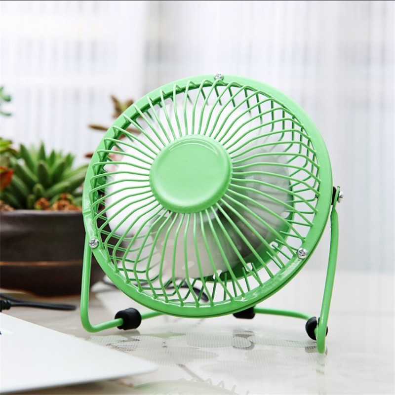 Mini Rotary Fan Gift Rechargeable Student Office Desktop 4Colcors Small Electric Table Portable 4-inch USB Iron