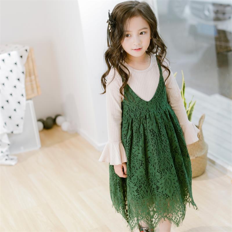 font b Kids b font Girls Clothes 2pcs 2018 New Spring Dress Suit Long Sleeves