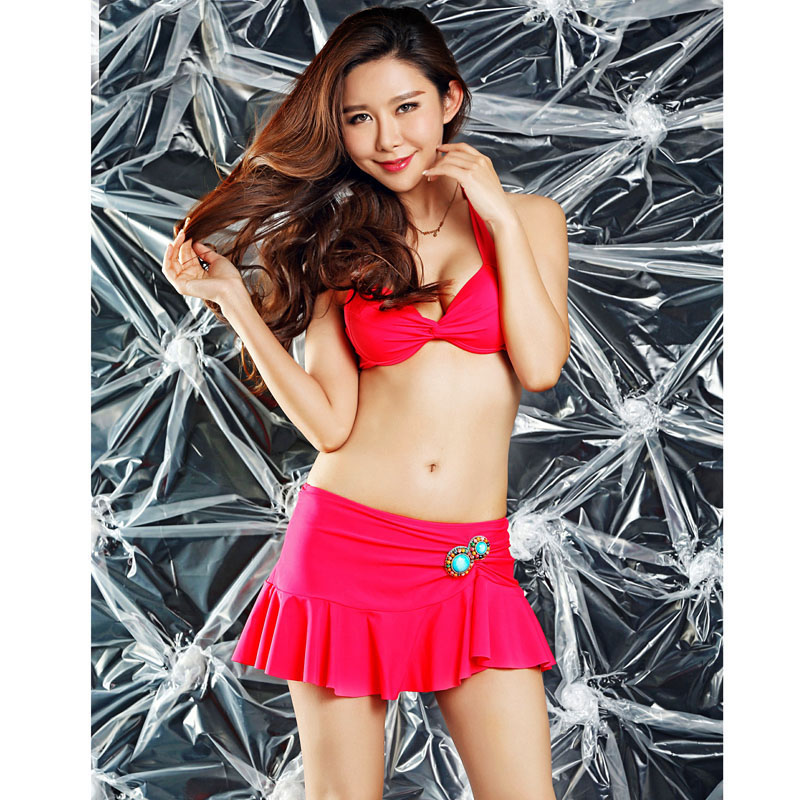 3bbf5754f1520 Cute Girls sexy bikini women swimwear push up bra swimsuit jewelry bikini  set