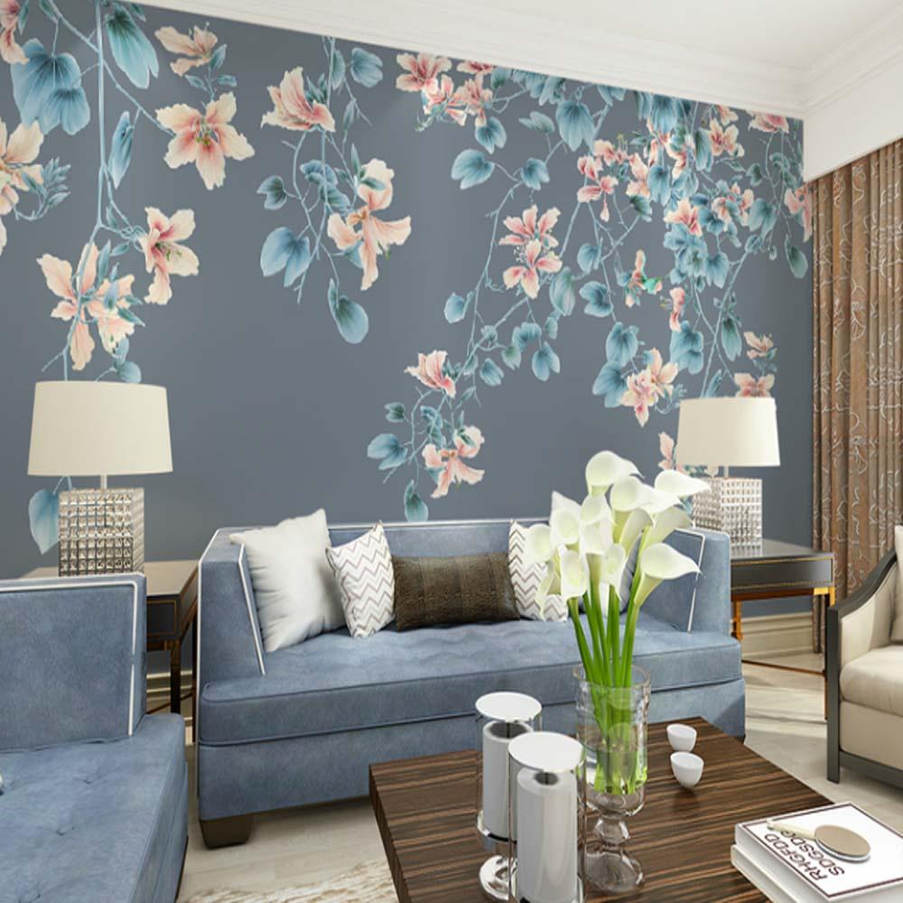 Modern Wallpaper Birds Flower Photo Mural Wallpapers For Living Room Bedroom TV Background 3D Wall Paper Murals Custom Any Size