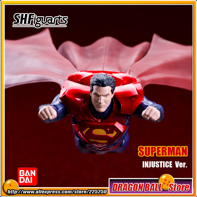 DC Comics Original BANDAI Tamashii Nations S.H.Figuarts / SHF Exclusive Action Figure - SUPERMAN INJUSTICE Ver. 100% original bandai tamashii nations s h figuarts shf exclusive action figure garo leon kokuin ver from garo