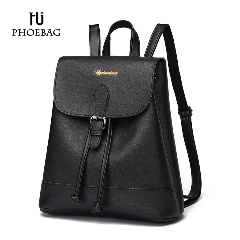HJPHOEBAG 2017 Fashion backpacks Women Preppy Style strap book bags ladies PU leather backpack Girl Travel bag sac a dos XB-K71