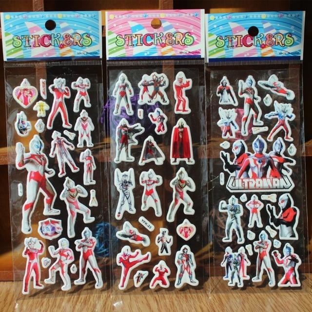 30 sheetslot Ultraman 3D carton bubble sticker for kids birthday