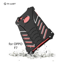 R JUST Protect Phone Case For OPPO F7 Metal Aluminum Shockproof Dropproof Cover For Oppo F7