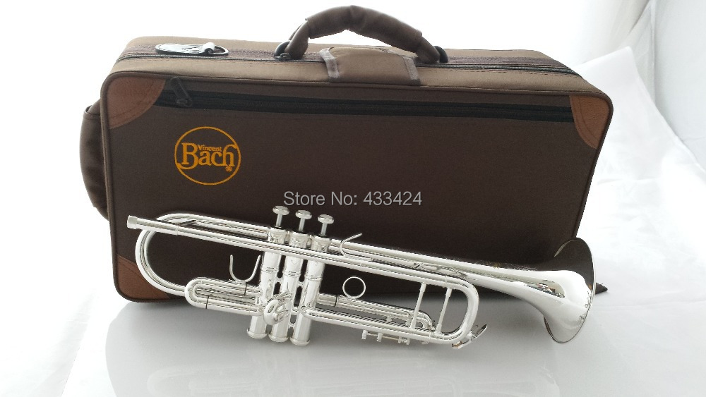 Taiwan Bach Original authentic Double silver-plated AB190S Bb Artisan Collection  trumpet Top musical instruments Brass bugle trumpet mouthpiece set silver plated 4 sizes convertible 7c 5c 3c 1 1 2c