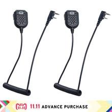 2 pcs walkie talkie speakers column headphones for walkie-talkie softair microphone with speaker headset for baofeng zastone