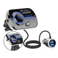 FM transmitter FM car MP3 Bluetooth fast charge full frequency point transmission wireless car charger