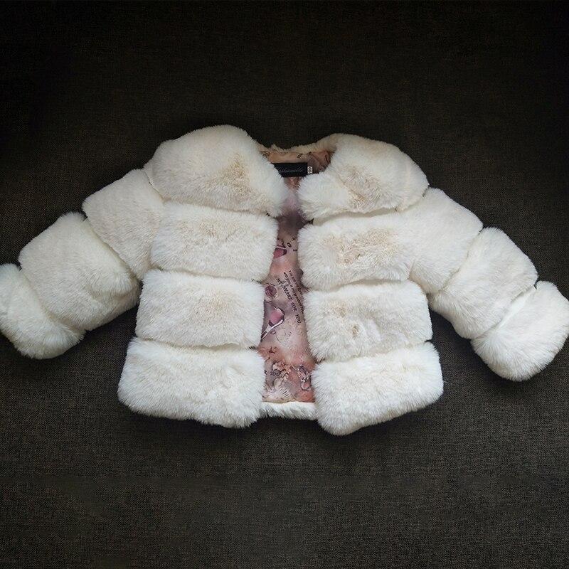 2019 Winter Girls Fur Coat Elegant Baby Girl Faux Fur Jackets And Coats Girls Warm Parka Kids Outerwear Clothes Children Coat