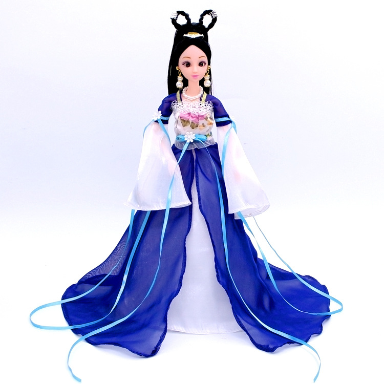 NK One Set Moroccan gown Princess Doll Sinicism Gown Kimono Robe classical Clothes For Barbie Doll Kids Children Present