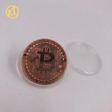 Памятные монеты для коллекции художественная коллекция Золотые Бронзовые Серебристые Позолоченные Биткоин специальные эфириевые монеты жесткая валюта
