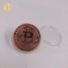 Памятные монеты для коллекции, коллекция искусства, золотые, бронзовые, серебряные, покрытые биткоином, Specie, эфириум, монеты, жесткие монеты