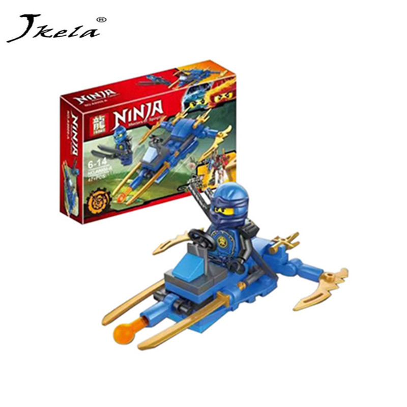 [Jkela] 6pcs Ninjagoes Dragon Building Block Compatible With Legoingly Ninjagoes KAI JAY COLE ZANE Lloyd WU GARMADON Ninja Toys bela 911pcs ninjagoes epic dragon battle building block set jay zx chokun minifigures kids toy compatible with legoes 9450