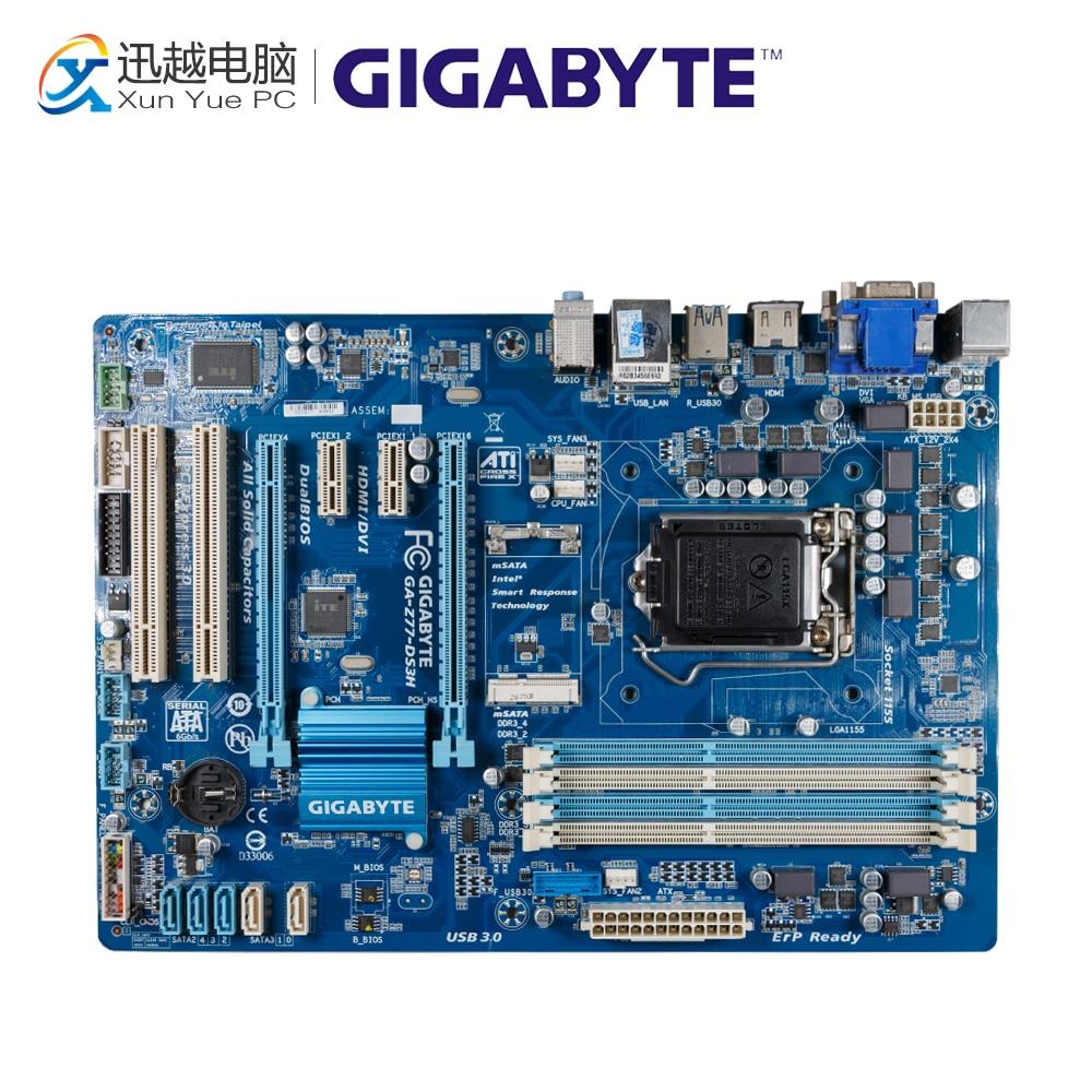Gigabyte GA-Z77-DS3H Desktop Motherboard Z77-DS3H Z77 LGA 1155 i3 i5 i7 DDR3 32G SATA3 ATX free shipping 10pcs ad7825br page 3