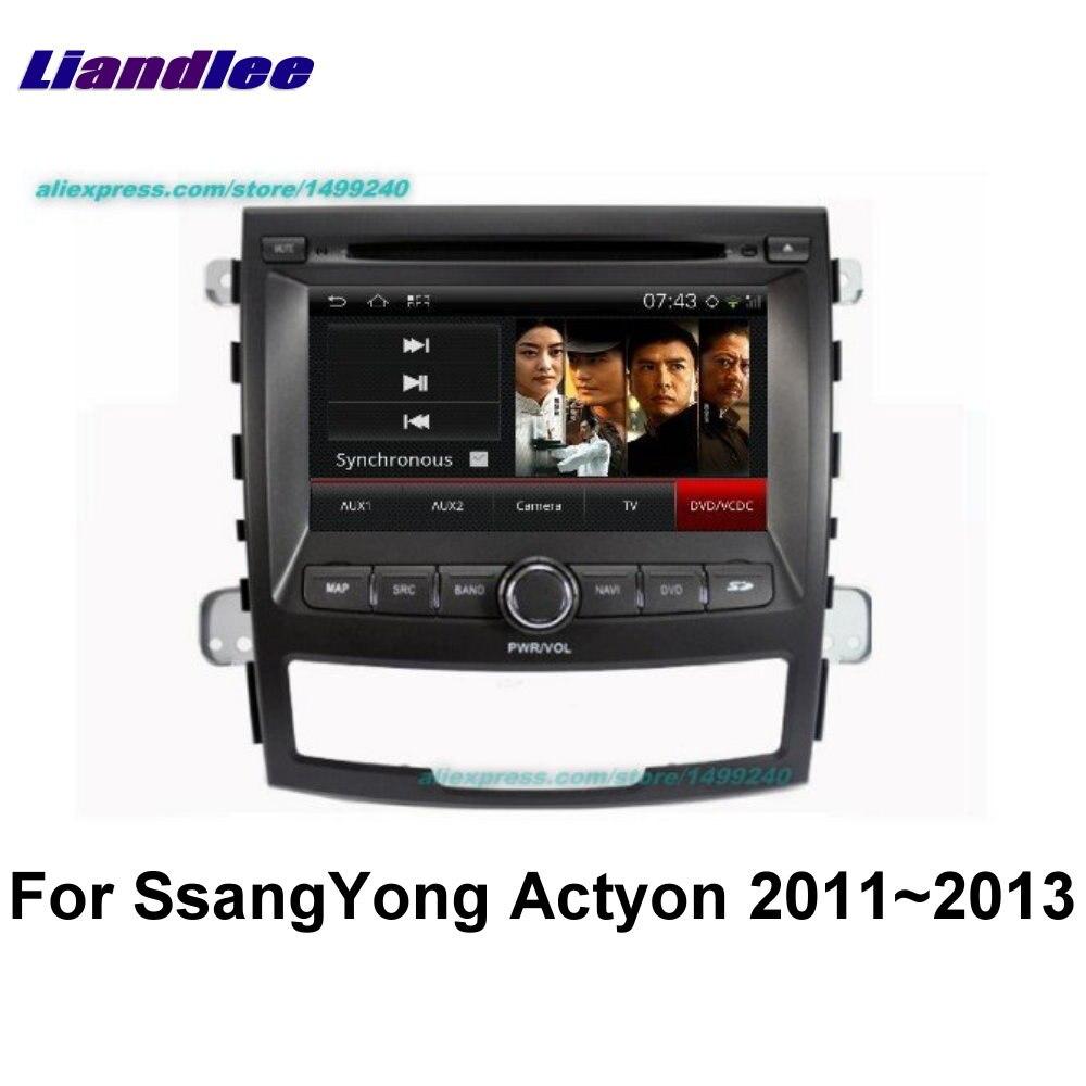 Liandlee 2 din voiture Android pour SsangYong Actyon 2011 ~ 2013 Radio GPS cartes carte Navigation lecteur HD écran BT WIFI système multimédia